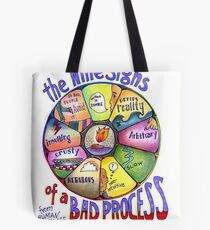 Nine Signs of a Bad Process Poster Tote Bag