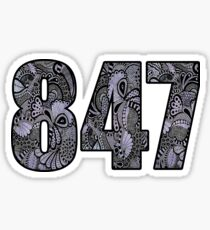 847 Doodle Sticker