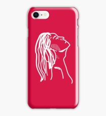 Red Girl Sketch iPhone Case/Skin