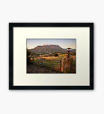 Mt Roland at Sunrise Framed Print