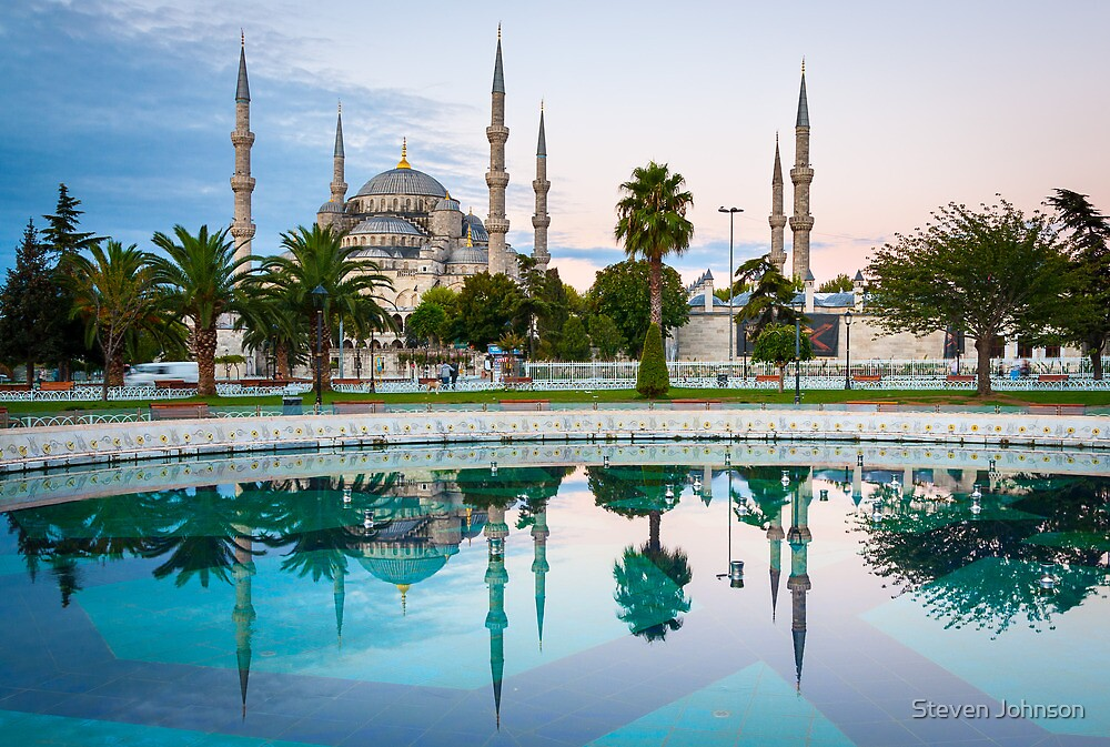 Blue Mosque by Steven Johnson