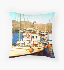 Amorgos Island Throw Pillow