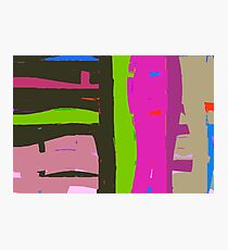 Bright coloured abstract. Photographic Print