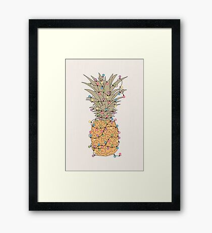Tropical Lights Framed Print