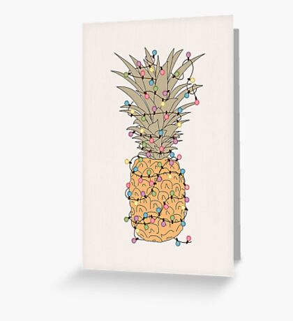 Tropical Lights Greeting Card
