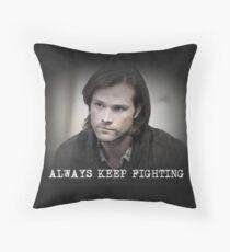 Jared Padalecki Always Keep Fighting Throw Pillow