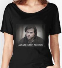 Jared Padalecki Always Keep Fighting Women's Relaxed Fit T-Shirt