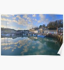 Cornwall: Padstow Harbour Reflections Poster