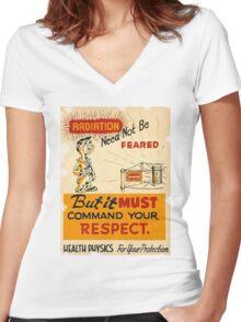 Radiation 1950 poster vintage Women's Fitted V-Neck T-Shirt