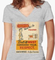 Radiation 1950 poster vintage Women's Fitted V-Neck T-Shirt