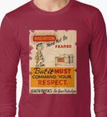 Radiation 1950 poster vintage Long Sleeve T-Shirt
