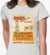 Radiation 1950 poster vintage Womens Fitted T-Shirt