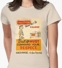 Radiation 1950 poster vintage Women's Fitted T-Shirt