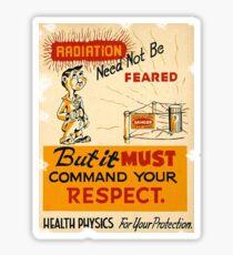 Radiation 1950 poster vintage Sticker