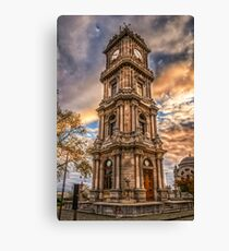 Dolmabahce Palace Clock Tower Canvas Print