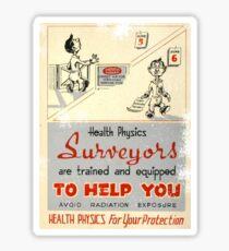 Health Physics 1950's t-shirt vintage  Sticker