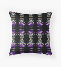Tara with purple water lilly. Throw Pillow