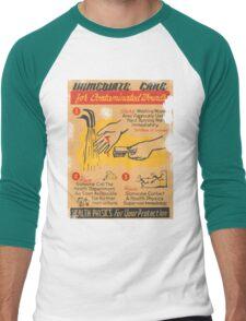 immediate care contaminated 1950's t-shirt Men's Baseball ¾ T-Shirt