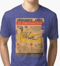 immediate care contaminated 1950's t-shirt Tri-blend T-Shirt