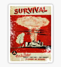 Survival nuclear 1950's Vintage T-shirt Sticker