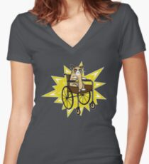 Breaking Grumpy Women's Fitted V-Neck T-Shirt