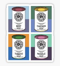 Dharma Initiative Soup Cans Sticker