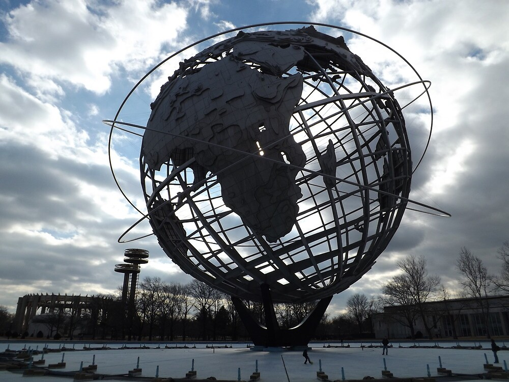 Classic Globe, Flushing Meadow Park, Queens, New York  by lenspiro