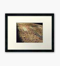 New York City Panorama, Scale Model of New York City, Queens Museum, Queens, New York  Framed Print