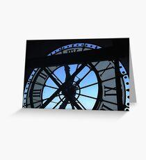Musée d'Orsay clock Greeting Card
