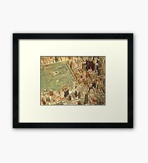 Central Park South, New York City Panorama, Scale Model of New York City, Queens Museum, Queens, New York  Framed Print