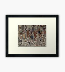 Empire State Building,  New York City Panorama, Scale Model of New York City, Queens Museum, Queens, New York  Framed Print