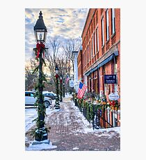 Litchfield Storefronts in Winter Photographic Print
