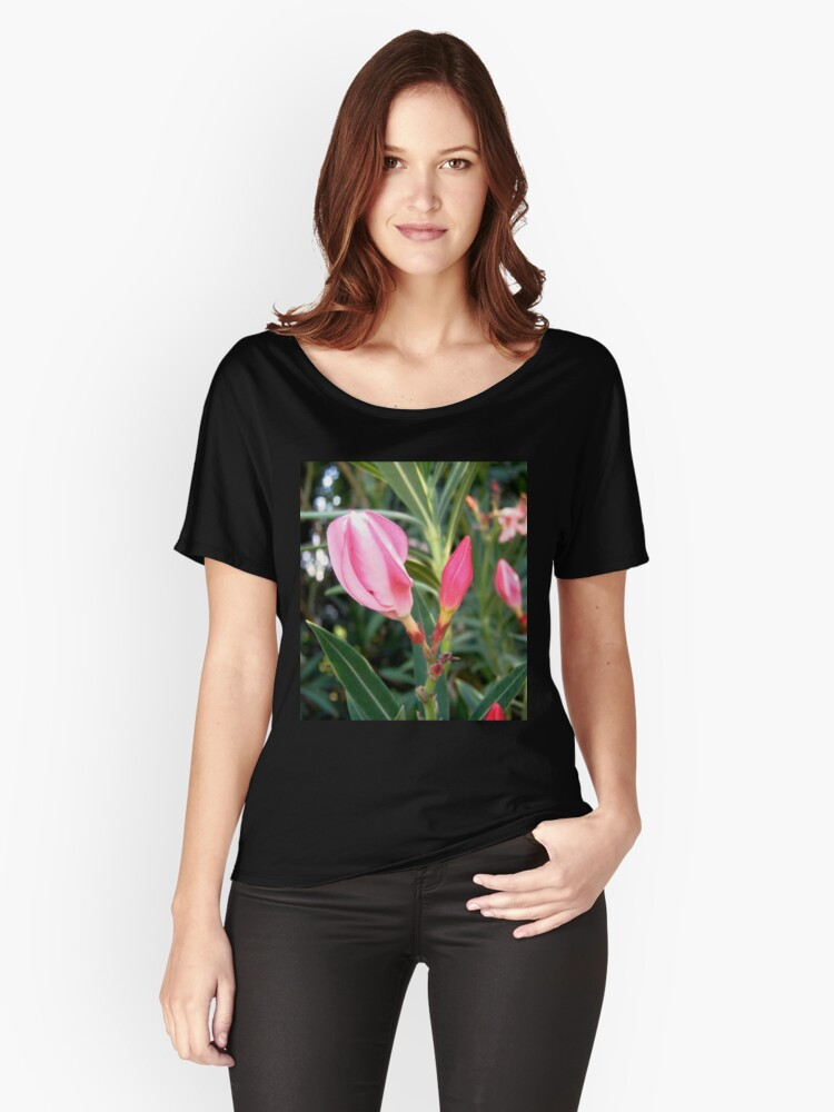 Oleander buds Women's Relaxed Fit T-Shirt Front