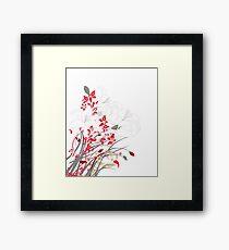 Red Flower Bunch Framed Print