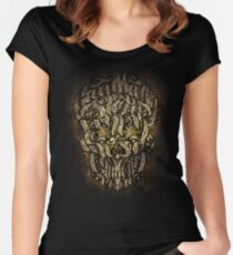 The 7 Sins Skull Women's Fitted Scoop T-Shirt