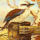 kookaburra on fence by Glen Johnson