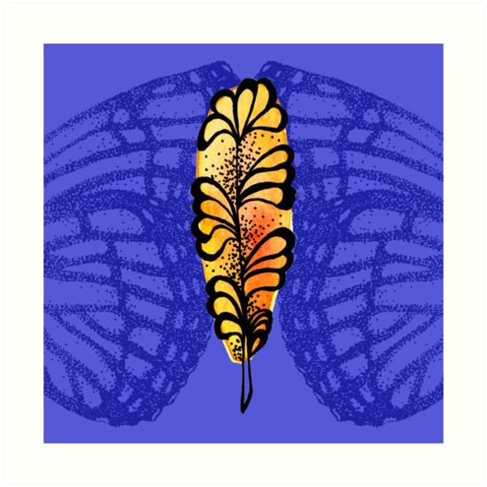 Wings Of A Butterfly Feather by missmann