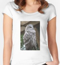 Owl #2 Women's Fitted Scoop T-Shirt