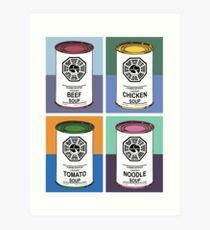 Dharma Initiative Soup Cans Art Print