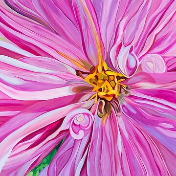 Pink Dahlia by JBPoppyArt