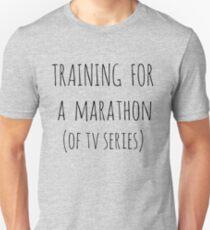 training for  a  marathon (of tv series) Unisex T-Shirt