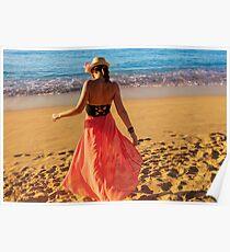 ViVi on the Beach - St. Lucia, Caribbean Poster