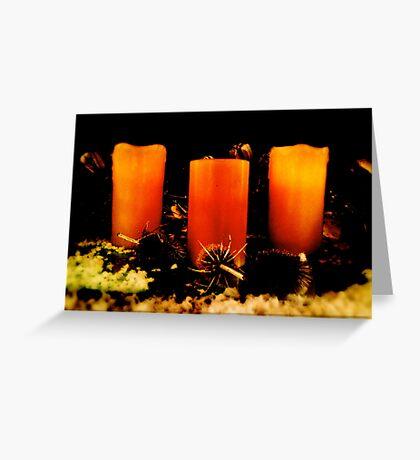 Candles, Doddington Hall Greeting Card