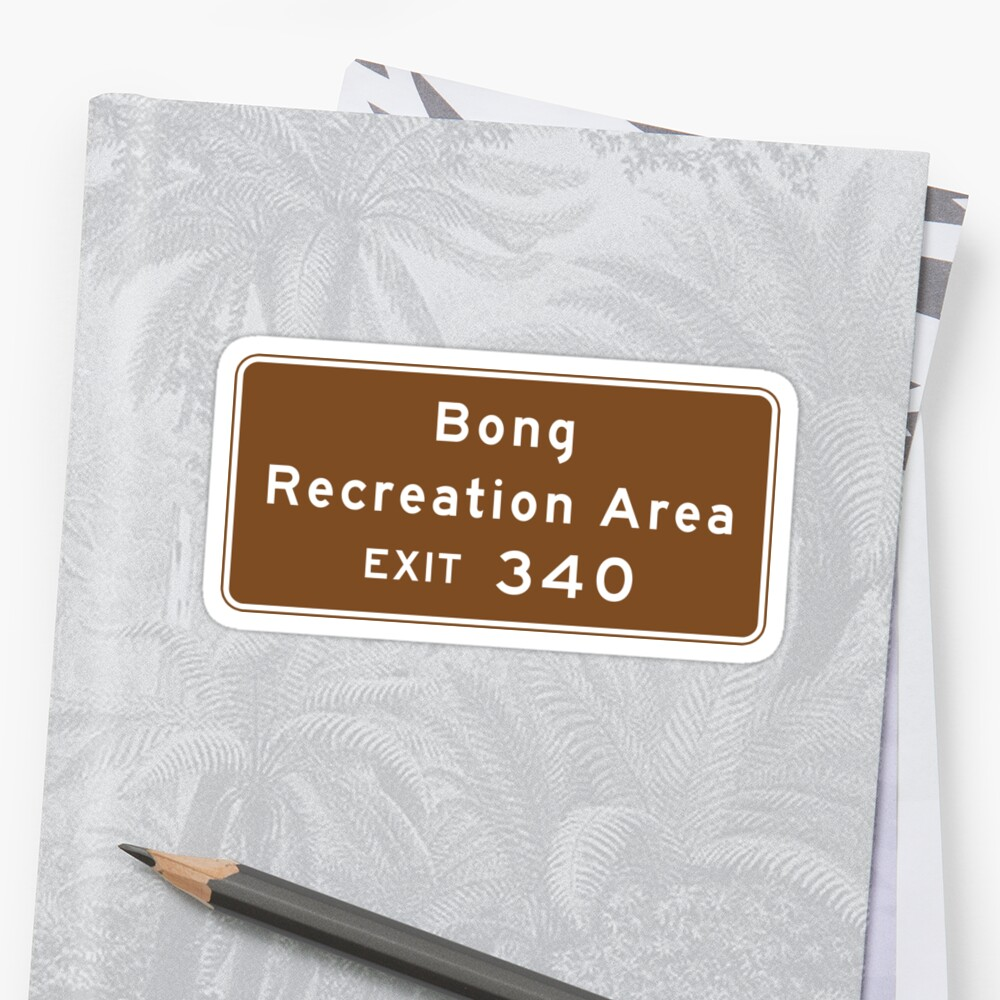 Bong Recreation Area, Road Sign, Wisconsin by worldofsigns