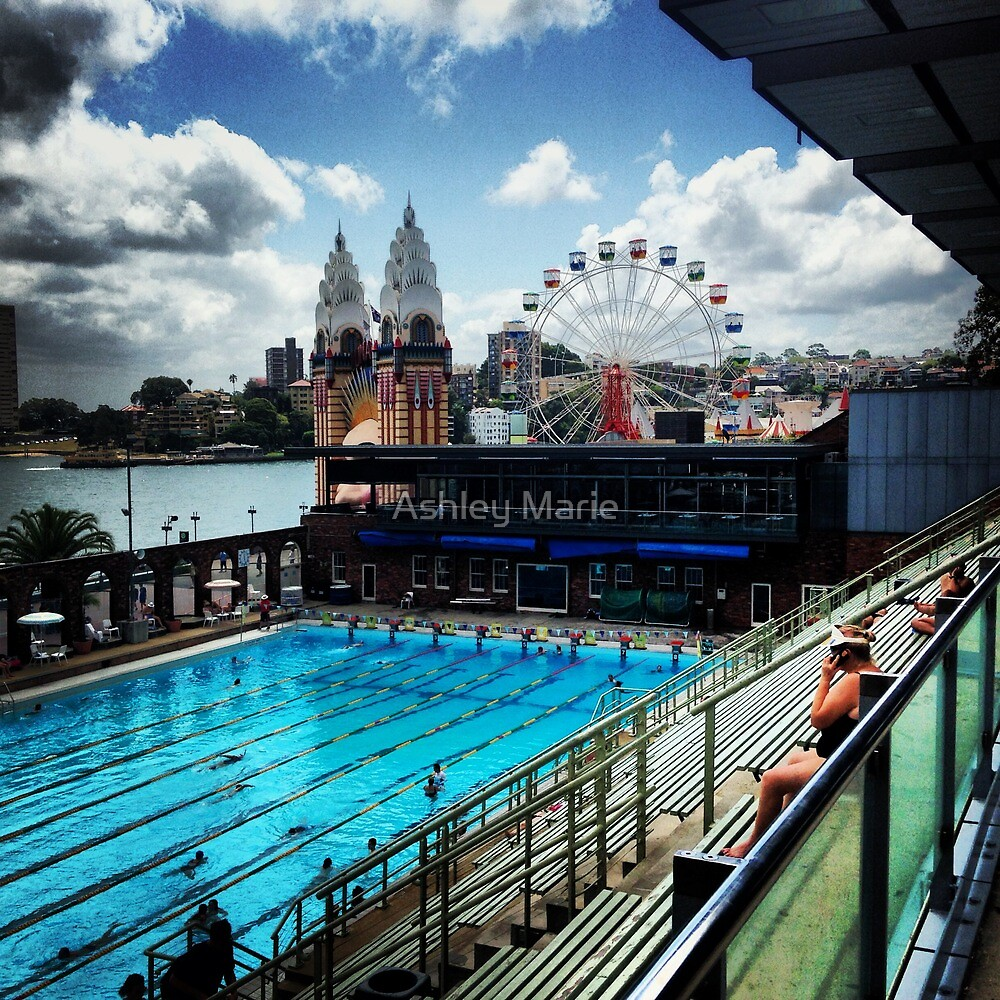 Luna Park North Sydney Olympic Swimming Pool By Ashley Marie Redbubble
