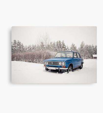 VAZ 2103 in winter Canvas Print