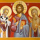 Deisis: Christ, St Nicholas & St Paraskevi by ikonographics