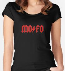 MOFO Rock & Roll Women's Fitted Scoop T-Shirt