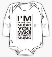 I'm Elevating Music, You Make Elevator Music (Black) One Piece - Long Sleeve