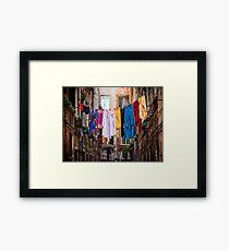Laundry line Framed Print